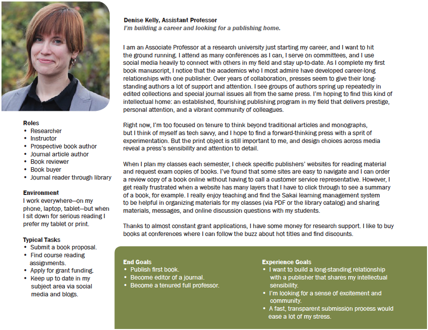 Image of a persona for an assistant editor